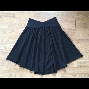 American Apparel black cotton skirt size XL